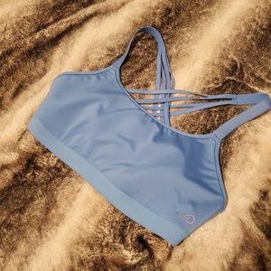 Pretty blue sports bra size large